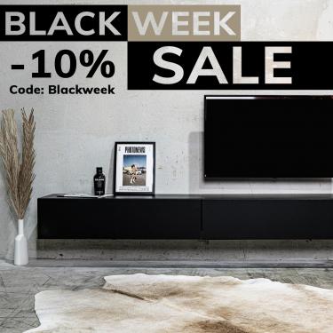 """WUUN BLACK SALE 🖤   Diese Woche gibt es 10% auf alles! Schau jetzt bei uns im Online Shop vorbei und sichere dir deinen Rabatt auf unsere TV Boards und Vitrinen mit dem Code: """"Blackweek"""" 😍  HAPPY BLACK WEEK 🖤 #wuunmoment"""