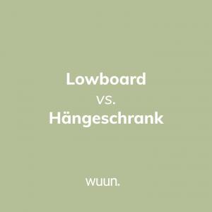 """""""Lowboard vs. Hängeschrank""""  Was meint ihr, wer macht das Rennen? Schreibt es uns die Kommentare 🏁"""