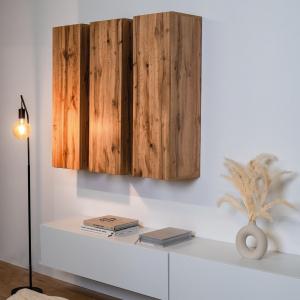 Doppelt hält besser, dreifach ewig - 3x Hochschrank Somero in Eiche kombiniert mit dem Tv-Board in weiß-matt ♾️